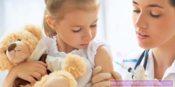 The vaccination against chickenpox